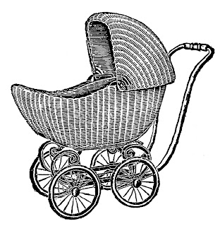 baby carriage artwork illustration image digital clipart download