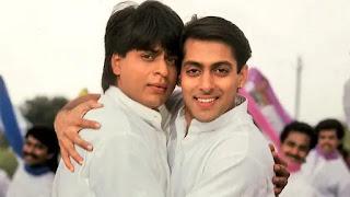 shahrukh khan and salman khan in film 'karan arjun'