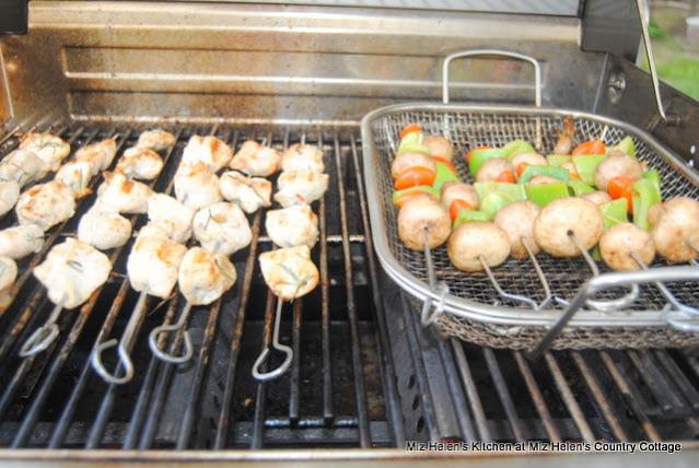 Lemon Chicken & Veggie Kabobs at Miz Helen's Country Cottage