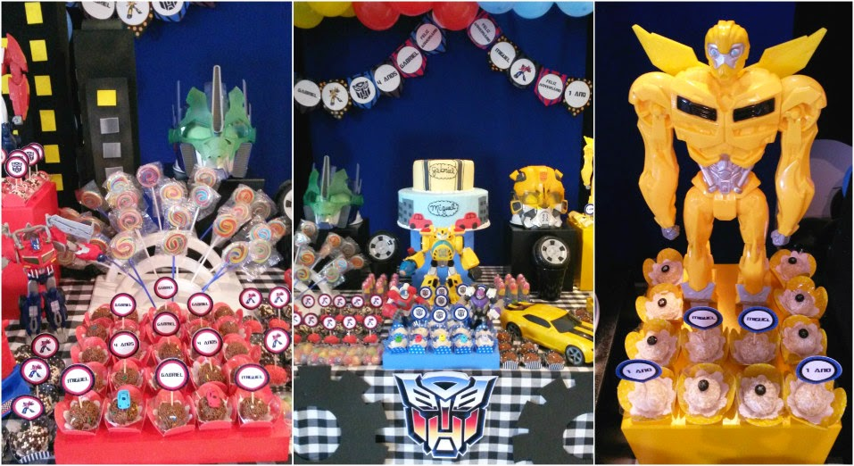 tellastella festa Festa Infantil Transformers
