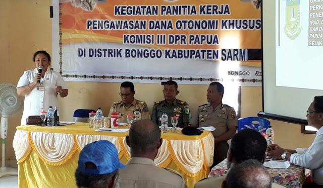 DPR Papua Gelar Kegiatan Panitia Kerja Pengawasan Dana Otonomi Khusus di Bonggo