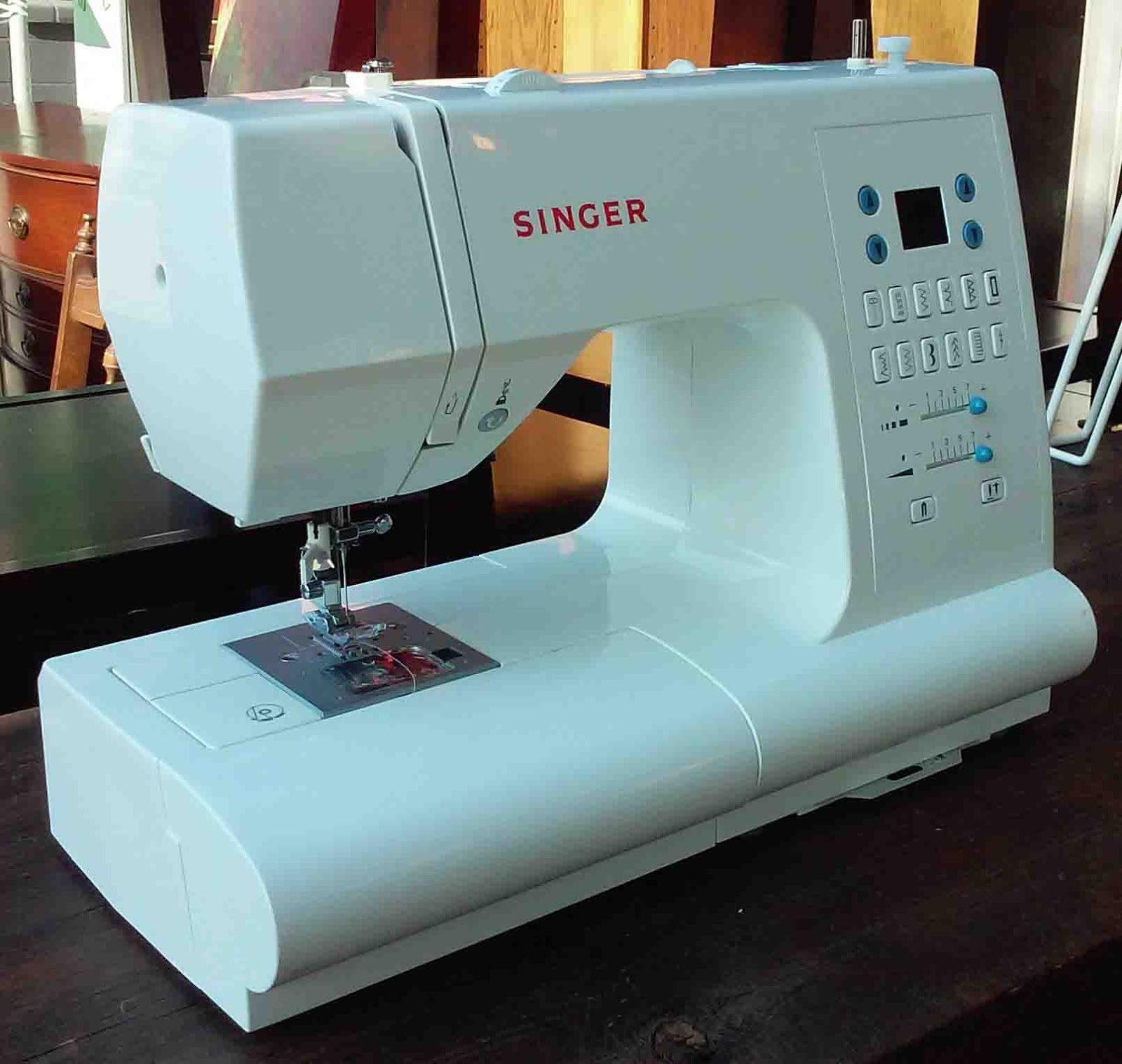 How To Profit From A Home Sewing Business: UHURU FURNITURE & COLLECTIBLES: SOLD Singer 7468 Sewing
