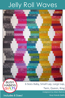 Jelly Roll Waves by Myra Barnes of Busy Hands Quilts