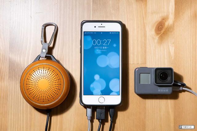 【開箱】無線多工首選,勁量 Energizer Qi 行動電源 - 如果臨時有需要,也是可以幫多個裝置同時充電
