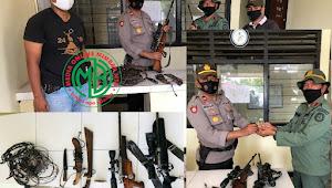 Operasi Gabungan TNI-Polri di Taman Nasional, 2 Pucuk Senpi & Pemilik Diamankan
