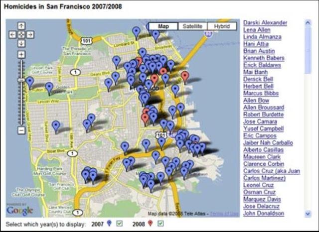 The Zodiac Killer Enigma murder Map
