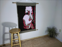 Solitaire - Original Fine Art Abstract Portrait Tapestry by Jen Tennille