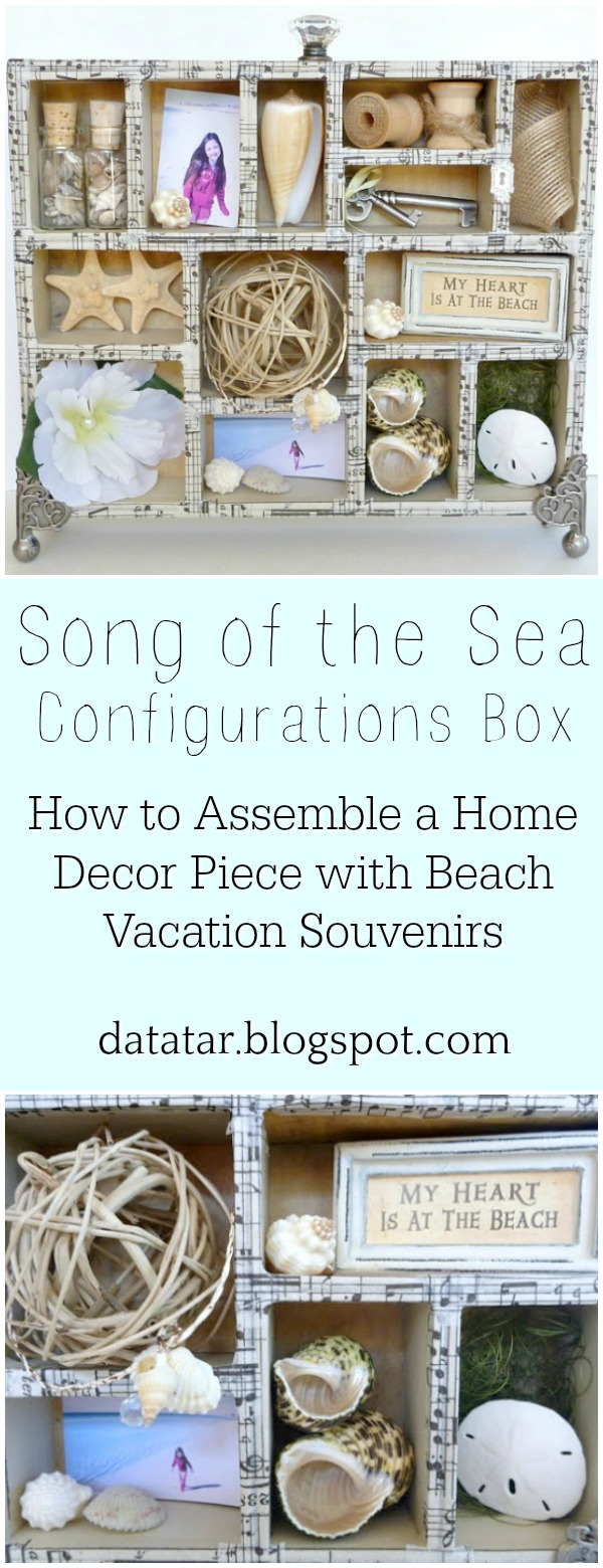 Howto Assemble a Home Decor Piece with Beach Vacation Souvenirs