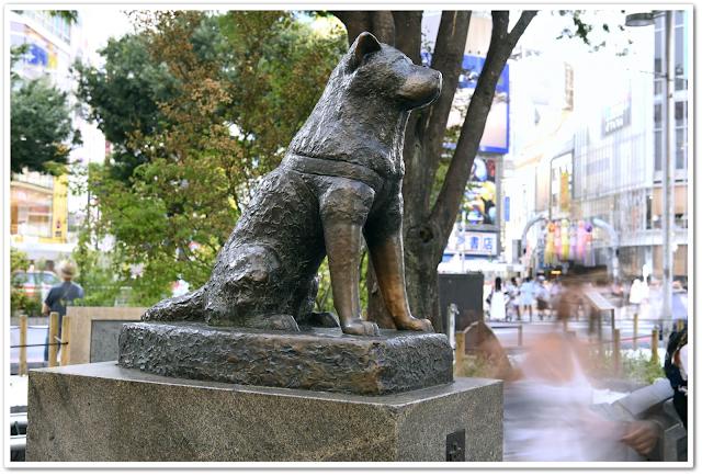 Hachikō memorial statue