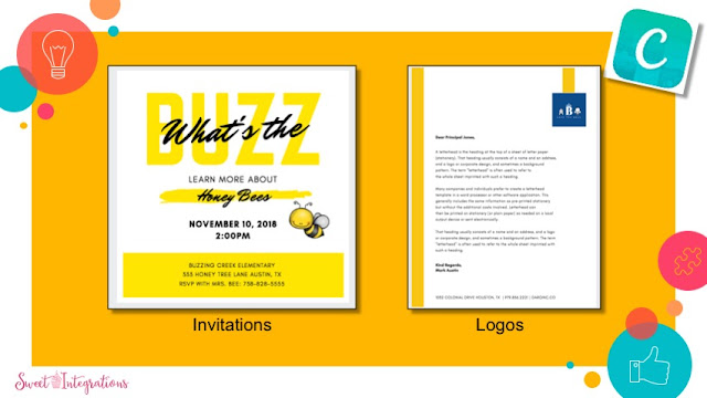 Business letters and Invitations using Canva