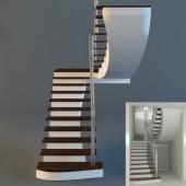 [3dmodelfree] Railing stairs
