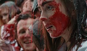 Garance Marillier (Justine) couverte de sang dans Grave, de Julia Ducournau (2017)