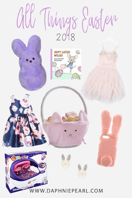 easter basket bunny rabbit dress gift egg hunt present book
