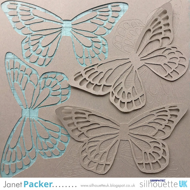 Silhouette Tutorial - Custom 2-step cut settings for thicker or coated cardstock by Janet Packer https://Craftingquine.blogspot.co.uk for SilhouetteUK