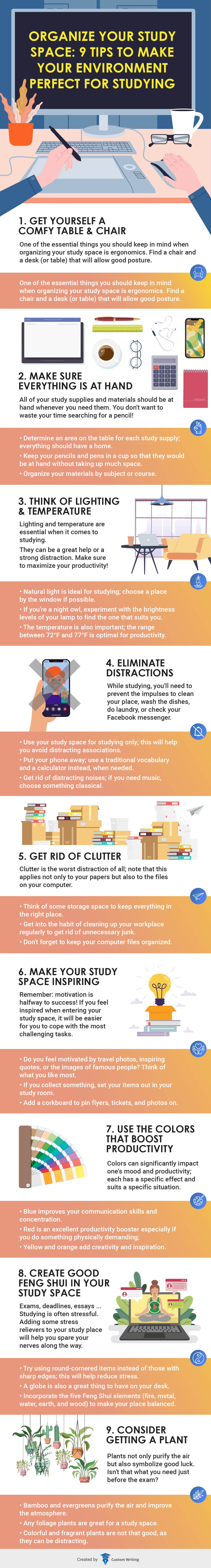 Organize Your Study Space: 9 Tips to Make Your Environment Perfect for Studying #infographic