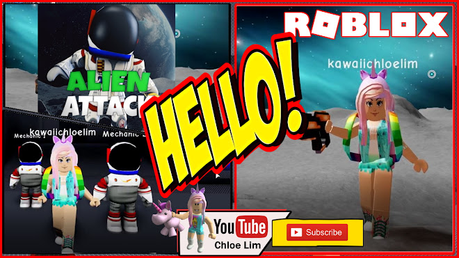 Roblox Alien Attack Gameplay! Tried to feed the aliens with Vegetables!