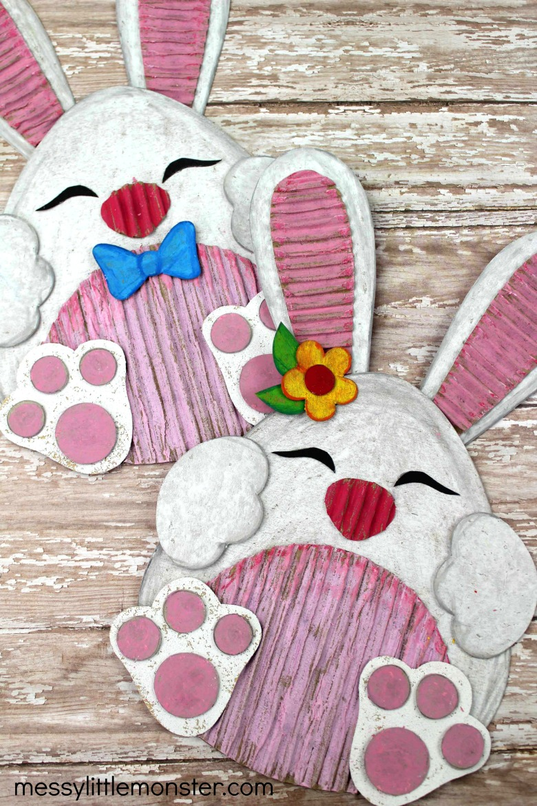 bunny craft for kids with printable bunny template