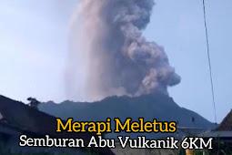 Gunung Merapi Meluetus