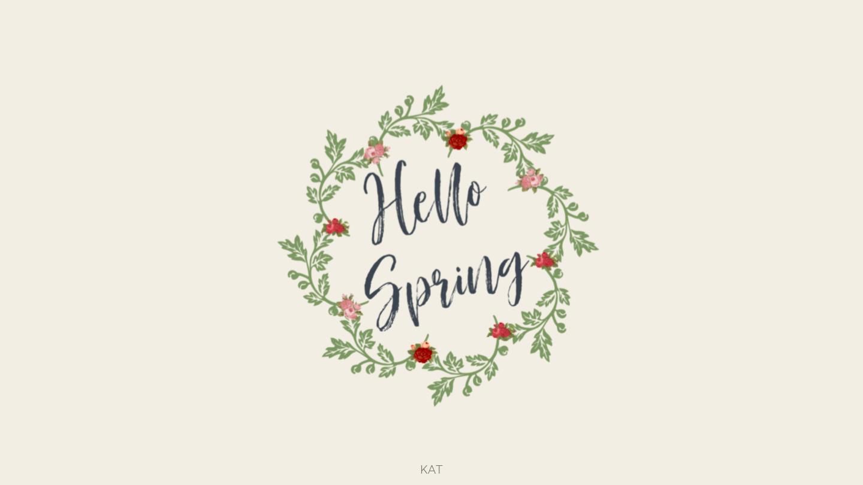 Hello Spring Wallpaper