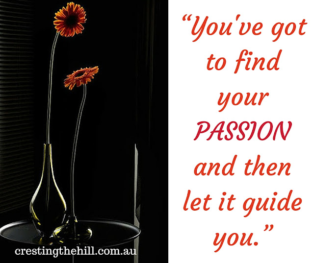 you've got to find your passion and then let it guide you - bollocks!