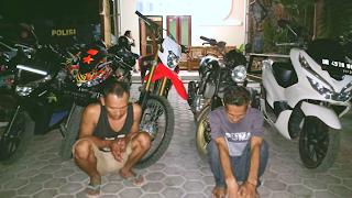 Berikut Dua Pelaku Curanmor Yang Sering Beraksi di Pantai Labuhan Haji dan Rambang