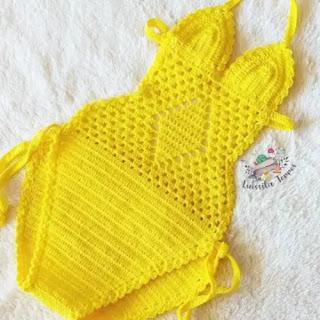 Salida de baño de bebé a Crochet
