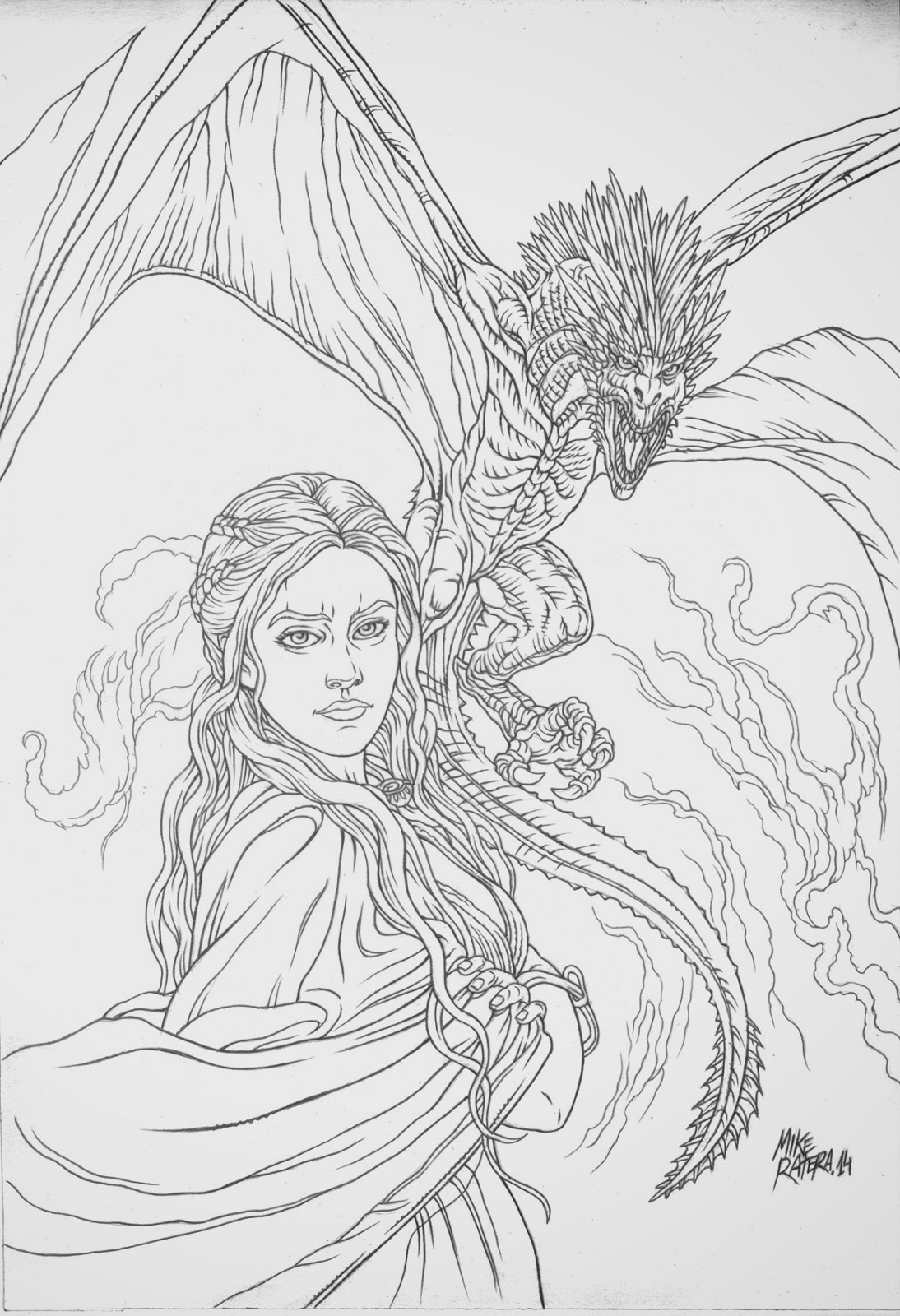 MIKE RATERA ARTBLOG: DAENERYS Color by Cris Ortega-Step by