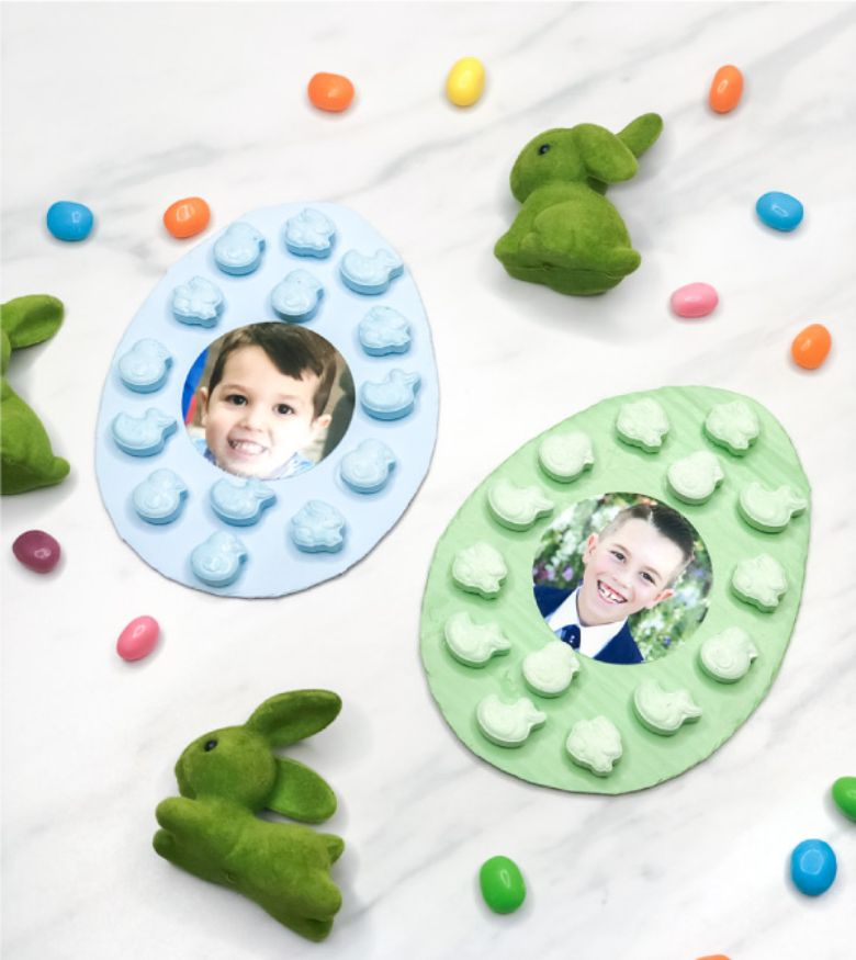 Easter crafts for toddlers - Easter egg photo craft