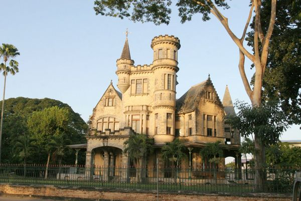 Stollmeyer's Castle/Killarney in Queen's Park Savannah in Port of Spain, Trinidad