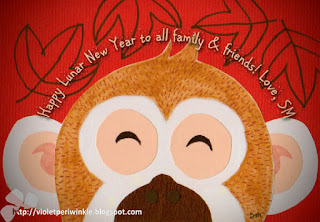 cny monkey illustration