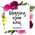 Blogging Your Way student