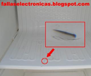 congelador pinchado