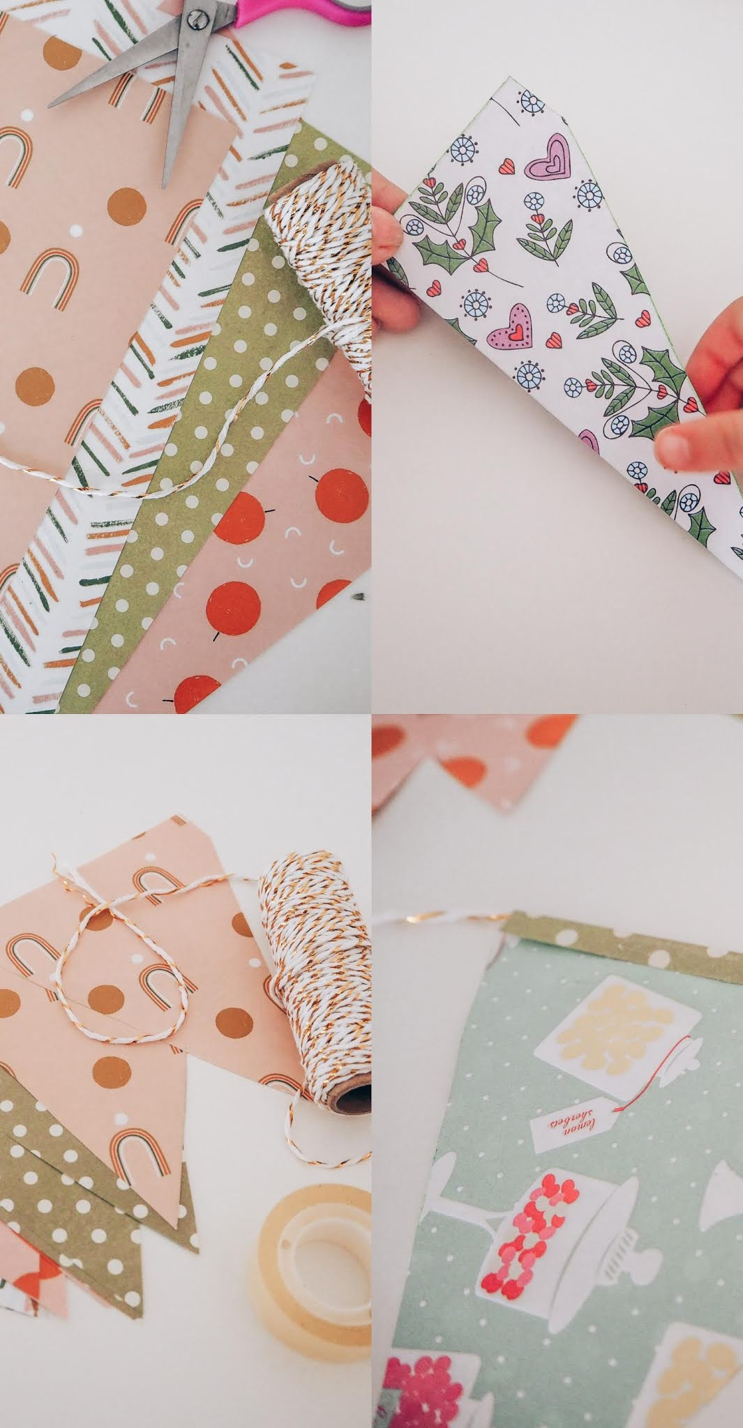 DIY Paper bunting making