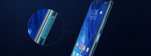Honor 20 right side fingerprint scanner