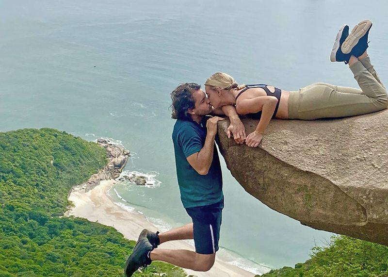 Emilia Daiber y su marido tomaron unas vacaciones outdoor en Brasil