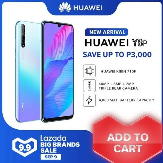 DEAL ALERT: Huawei Y8p on SALE this September 9 for ONLY PHP9,999 (Instead of Php12,999)