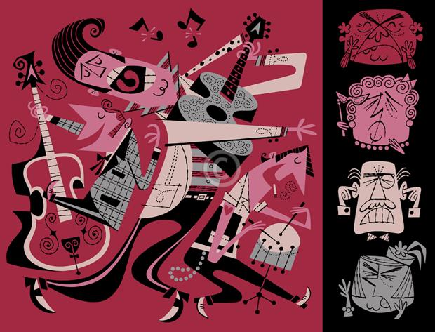 Derek Yaniger, ilustrador Derek Yaniger, about Derek Yaniger, ilustrações retro, ilustrações vintage, illustration, illustration Derek Yaniger, vintage illustration, retro illustration, ilustração rockabilly, ilustração tiki, design retrô, design vintage, ilustração beatnik, arte retrô, arte vintage