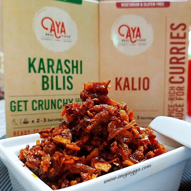 Kalio Ikan Tongkol & Karashi Bilis Rangup menu sedap dari AYA Real Food