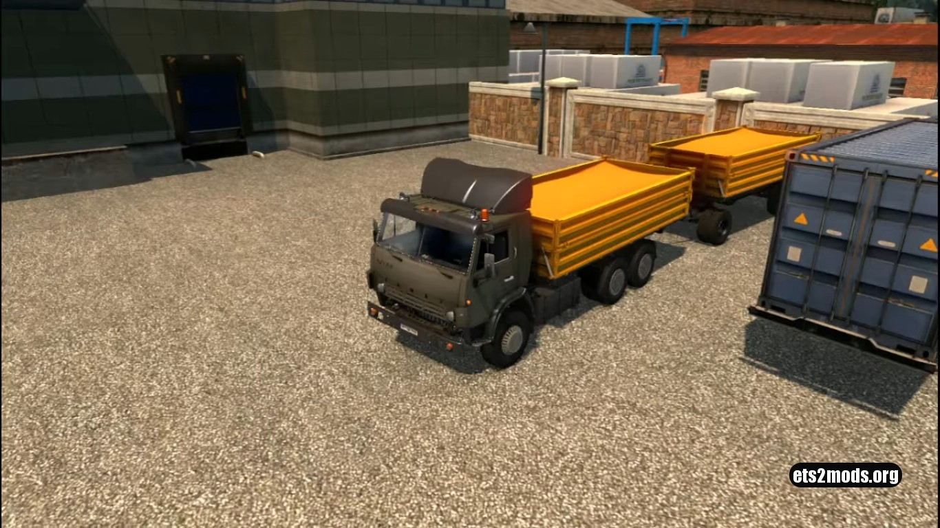 Truck - Kamaz 5410 + Trailers