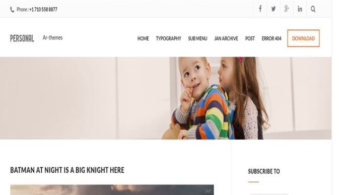Chia sẻ giao diện blogger Personal Mag Blogger Template