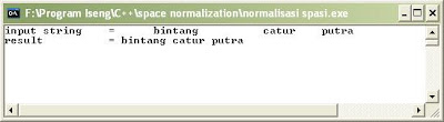 Space Normalization Program C++ (Proses Normalisasi Spasi)