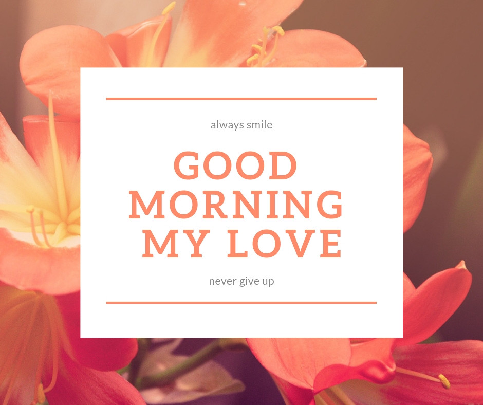 Good morning sms in love