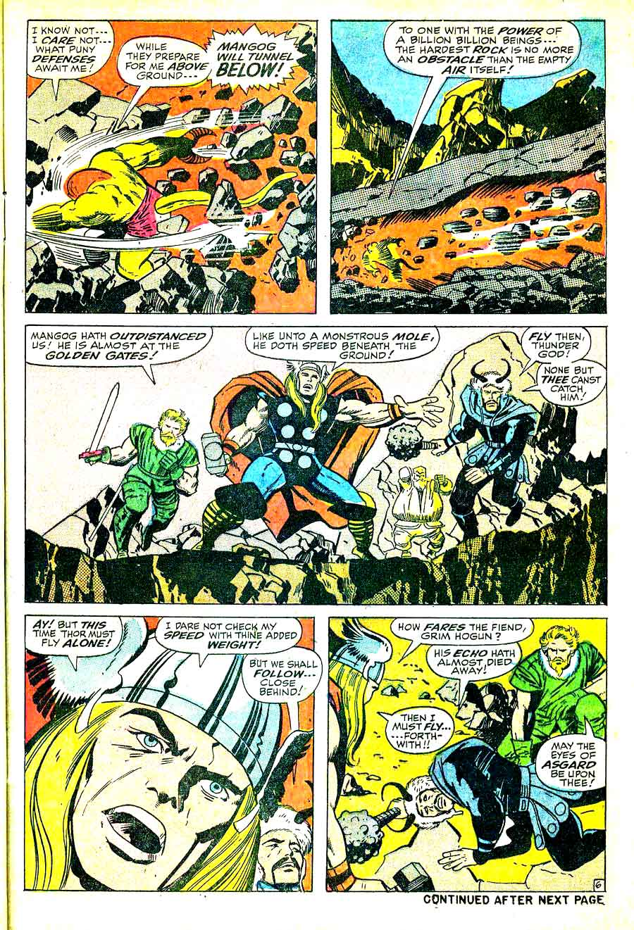 Thor v1 #157 marvel 1960s silver age comic book page art by Jack Kirby