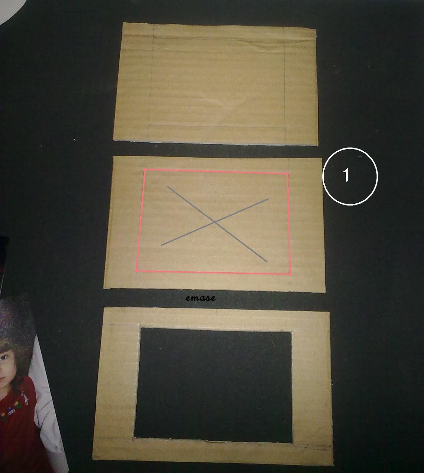 Ah como hacer manualidades sencillas paso a paso marco - Como hacer un marco de fotos a mano ...