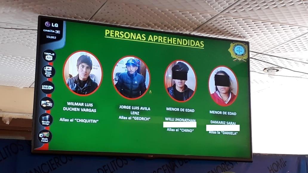 Los cuatro jovenzuelos que mataron a un estudiante de la UPEA a inicios de septiembre / FELCC