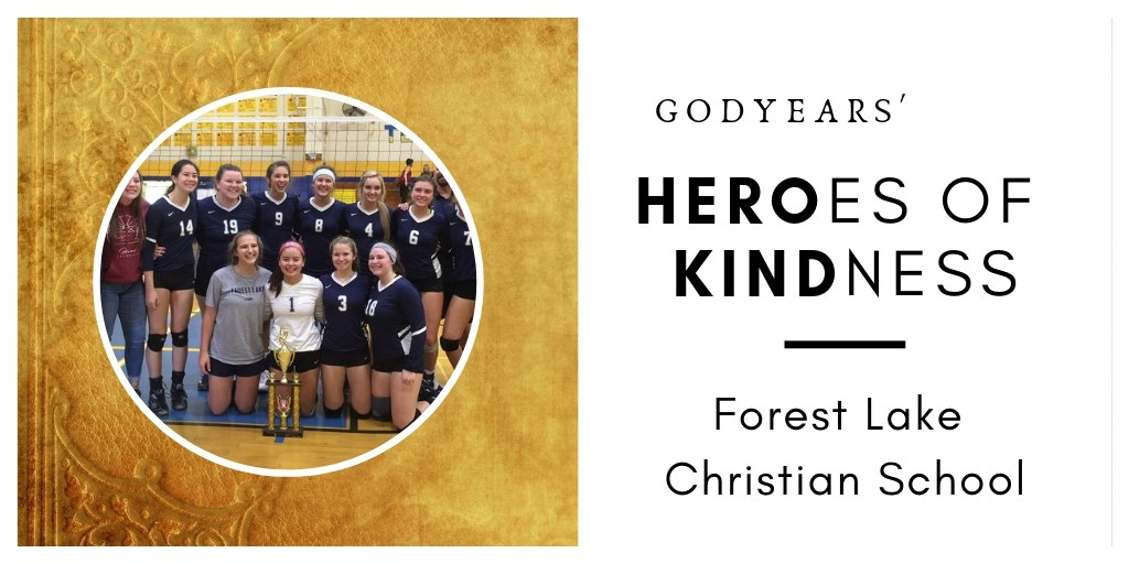 Arriving immediately after a horrible fire forced them to evacuate their homes, the high school volleyball team received an amazing surprise from their opponents