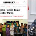 Warga Kristen Papua Tolak Investasi Miras, SBK: Wapres Seorang Kiai Diam Saja