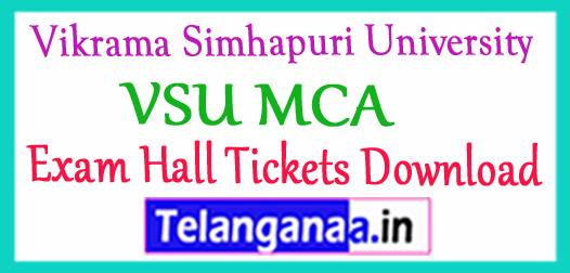 Vikrama Simhapuri University VSU MCA Exam Hall Tickets Download