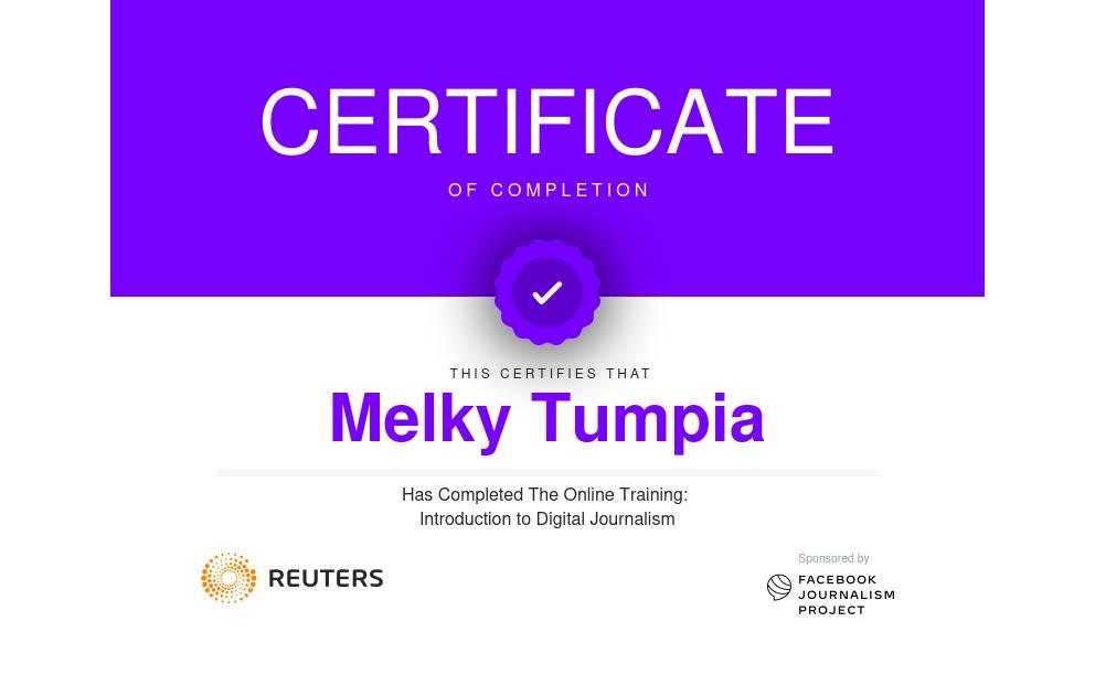 Reuters Digital Journalism Certificate