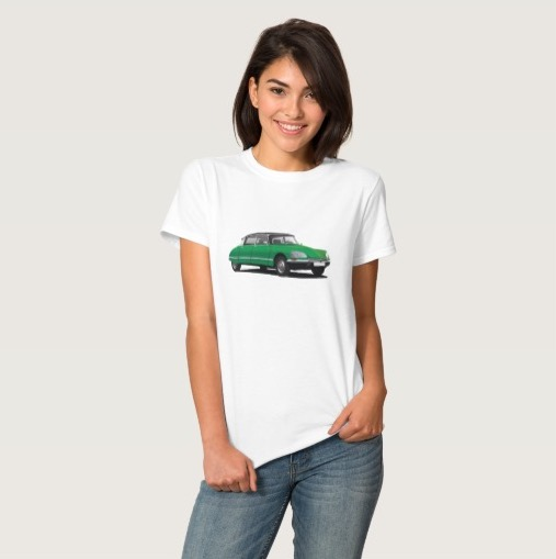 CItroën DS t-shirt green woman